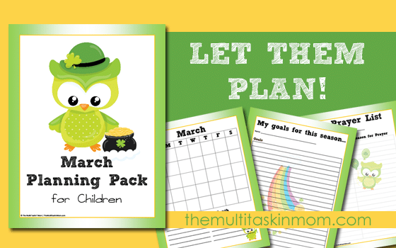 Children's Planning Pack for March Free for Limited Time