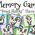 "FREE ""Sweet Skunks"" Memory Game"