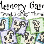 """FREE """"Sweet Skunks"""" Memory Game"""