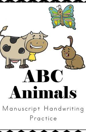 Animals Handwriting