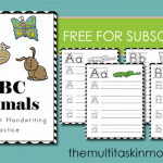 ABC Animals Handwriting Practice Manuscript
