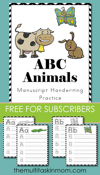 ABC Animals Manuscript HW