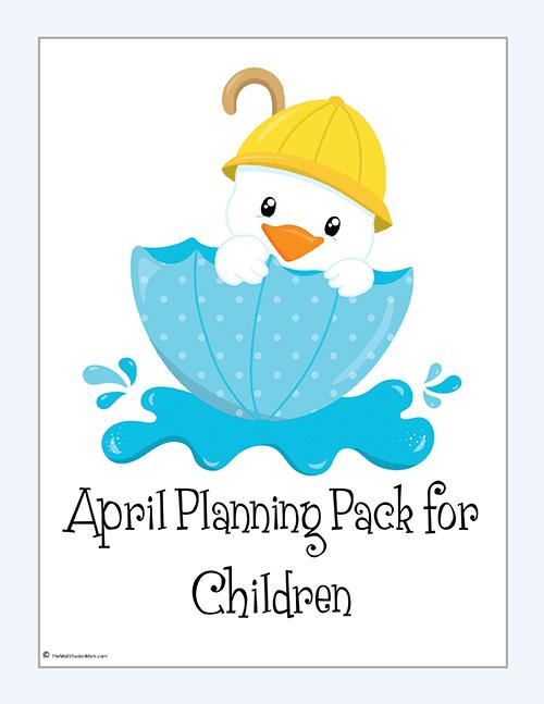 April Planning Pack - 2016-1