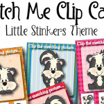 "Free ""Little Stinkers"" Matching Clip Cards"