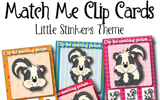 FREE Match Me Little Stinkers Clip Cards