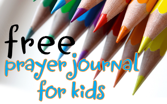 Grab this free prayer journal for kid
