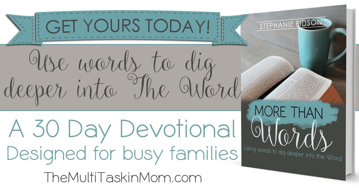 Grab your copy of More Than Words today and dig deeper into the Word