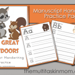 The Great Outdoors Manuscript Handwriting for Pre-k – 2nd Grade