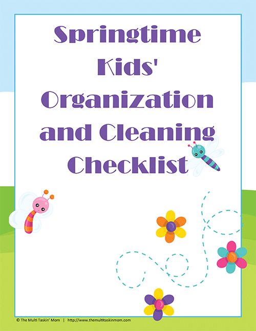 Springtime Kids Organization and Cleaning Checklist-1