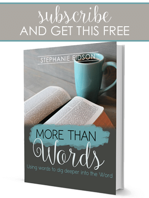 Subscribe and get More Than Words for free from The Multi Taskin Mom