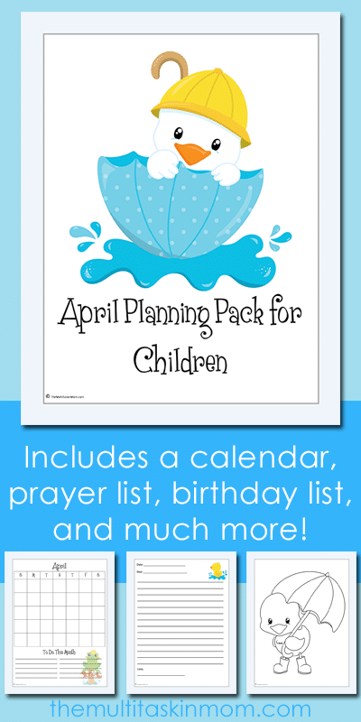 The April Planning Pack for Children Updated for 2016