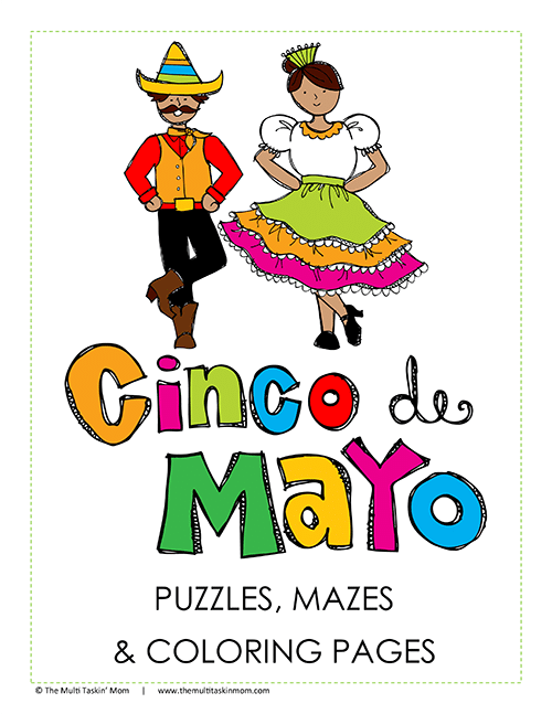 Cinco De Mayo Puzzles and Coloring