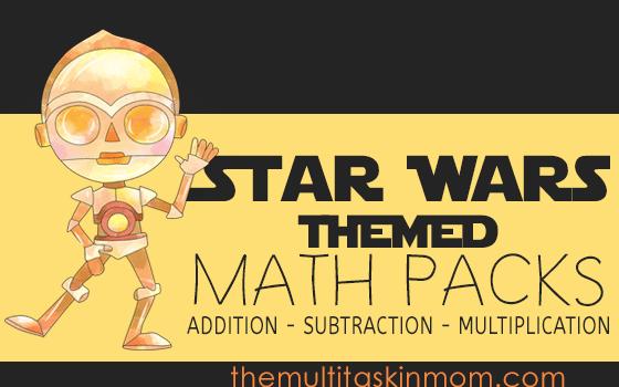 Star Wars Themed Math Packs - The Multi Taskin' Mom