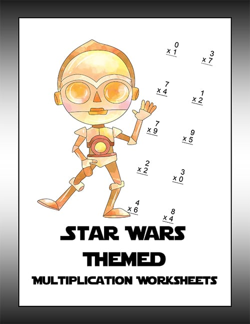 Star Wars Multiplication Worksheet-1