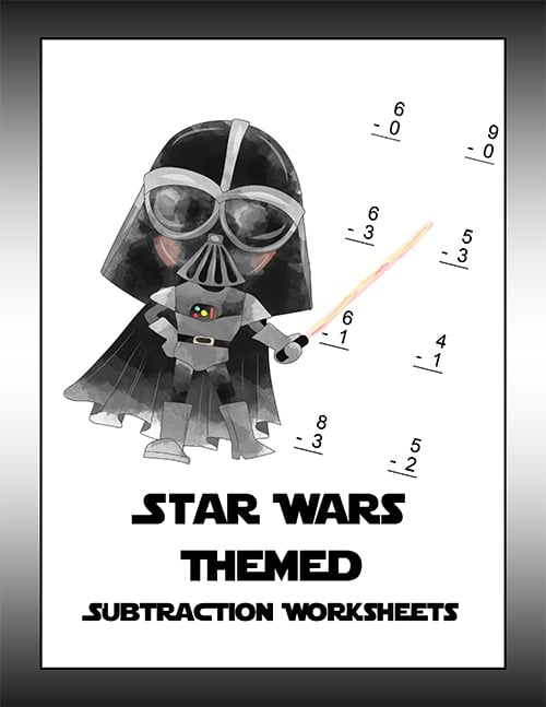 Star Wars Subtraction Worksheet-1
