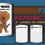 FREE Star Wars Themed Reading Log