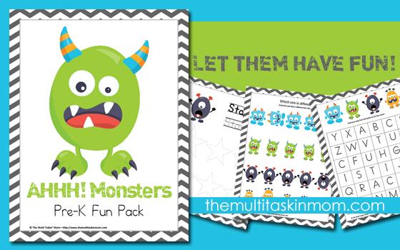 AHHHHH! Monsters PreK Fun Pack