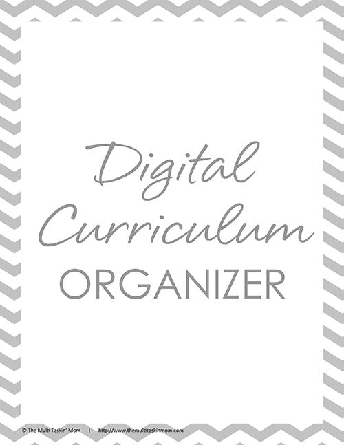 Digital Curriculum Organizer 2016-1