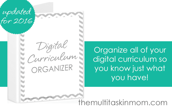 Digital Curriculum Organizer Newly Updated for 2016 grab it today