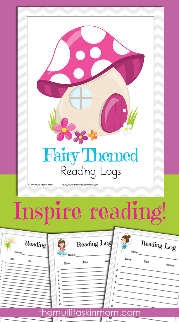 Fairy Themed Reading Logs to Inspire Reading