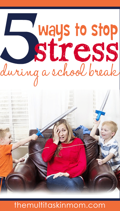 Five ways to stop stress during a school break