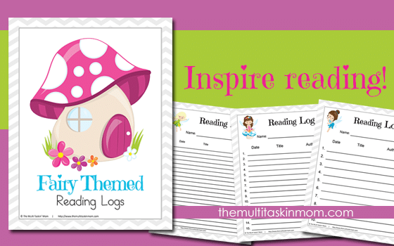 Fairy Themed Reading Logs