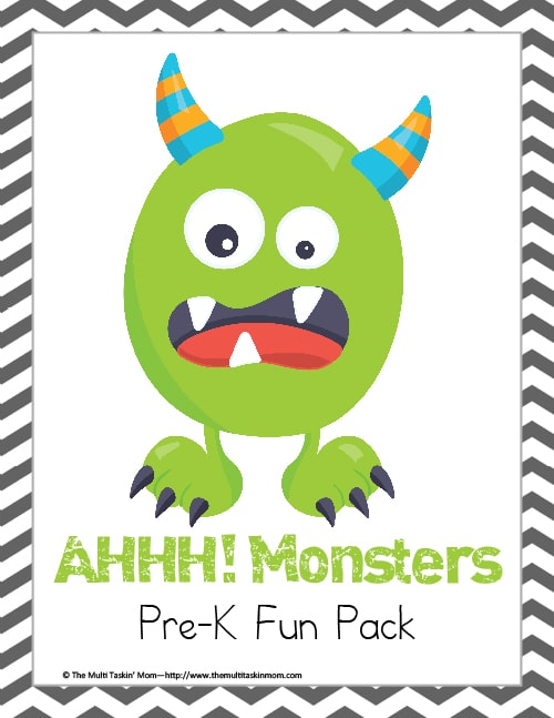 Monsters PreK Pack
