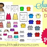 Summer Printable Dress-up Doll Sets