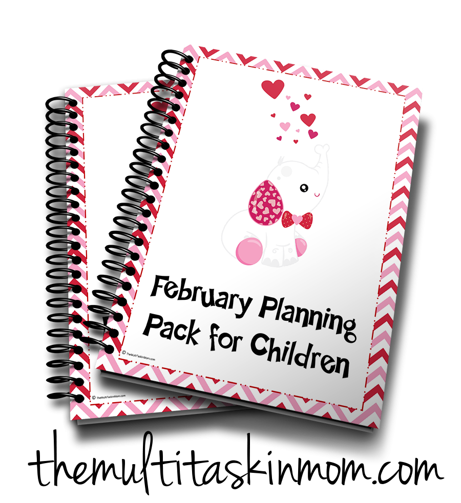 February Planning Pack for Children Cute Friends