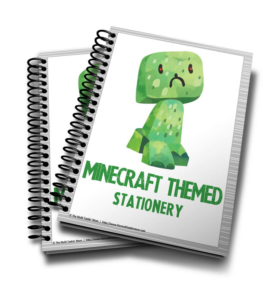 Minecraft Themed Stationery 2016