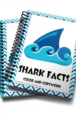 Shark color and copywork