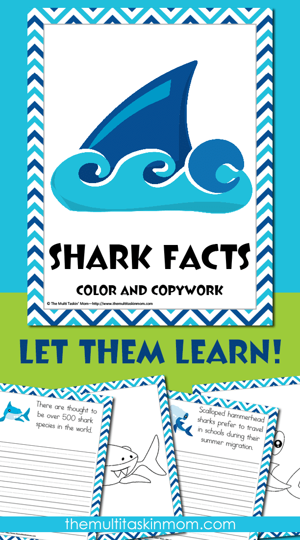Shark Facts Color and Copywork is a fun and engaging way for your children to learn about sharks