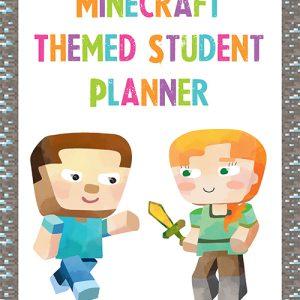 Student Planner - Minecraft 2016-1