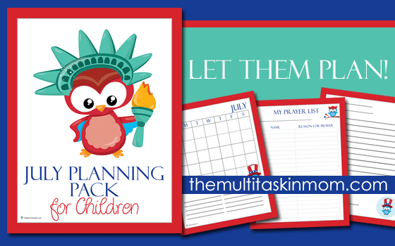 The July Planning Pack for Children 2016 Edition