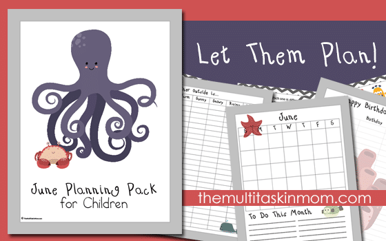 June Planning Pack for Children Updated