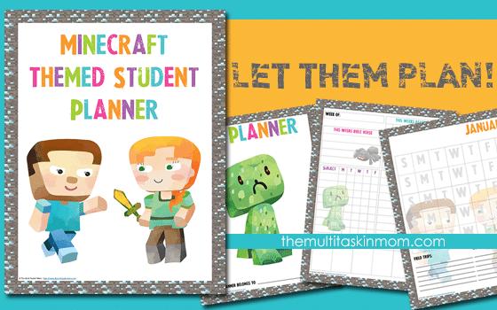 Minecraft Student Planner Updated