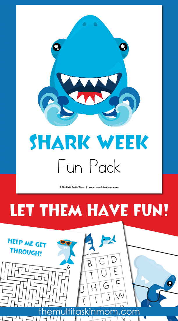 The Shark Week Fun Pack allows your kids to have a ton of fun while learning