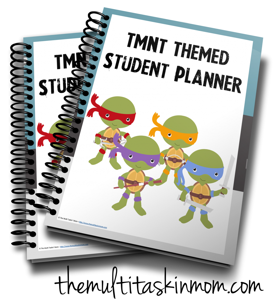 TMNT Themed Student Planner