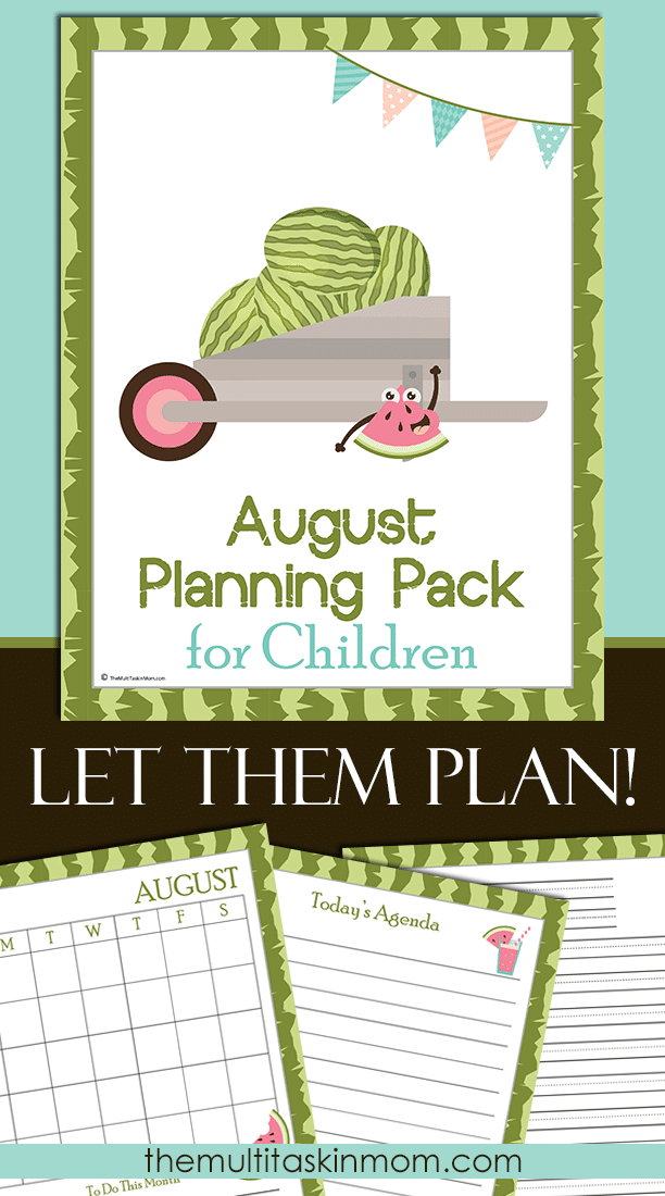 TheAugust Planning Pack for Chilren is updated and ready for 2016 but completely undated
