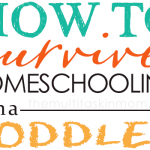 How to Survive Homeschooling With A Toddler