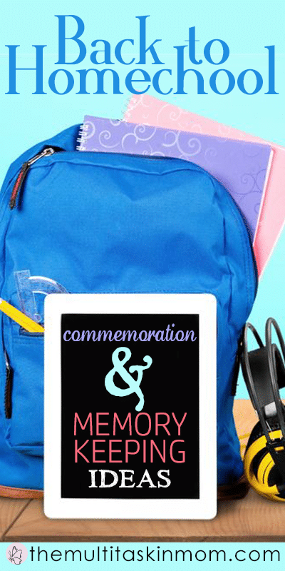 Back to homeschool memory keeping ideas