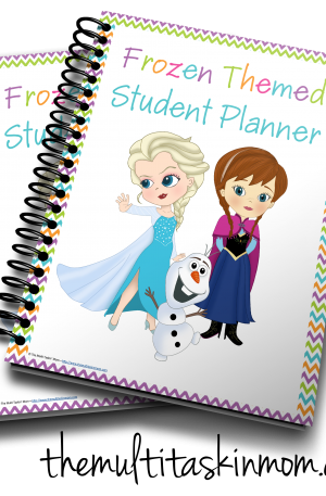 Frozen Themed Student Planner – Colorful