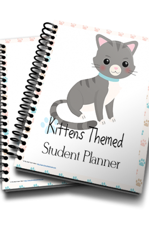 Kittens Themed Student Planner