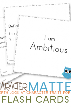 My Character Matters Flash Cards