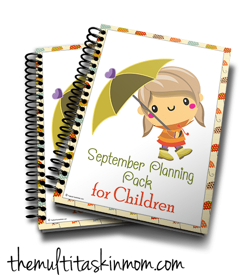 Cute Fall September Planning Pack for Children
