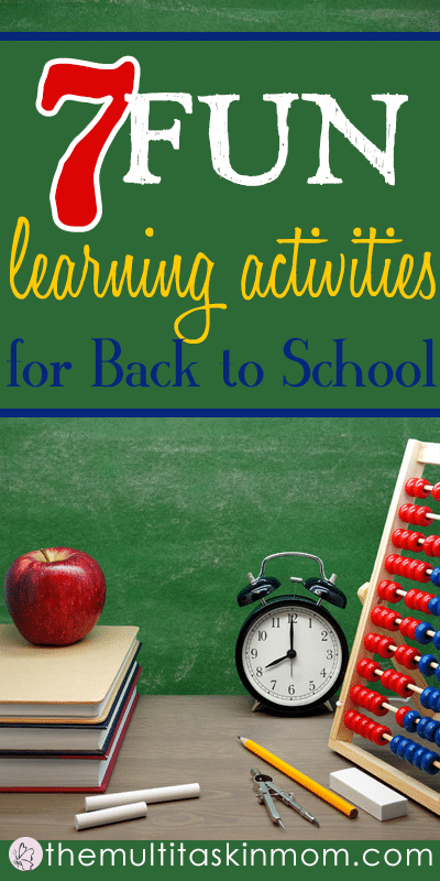 Seven fun learning activities for back to school