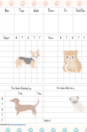 Puppies Themed Student Planner