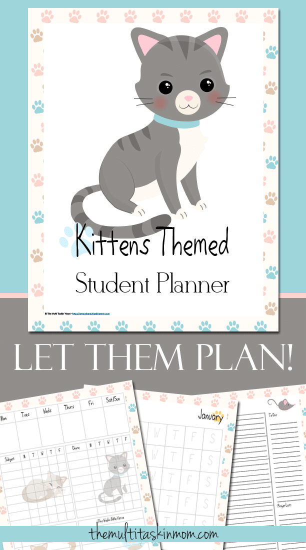 The Kittens Themed Student Planner will have your puppy lover excited to plan their school work