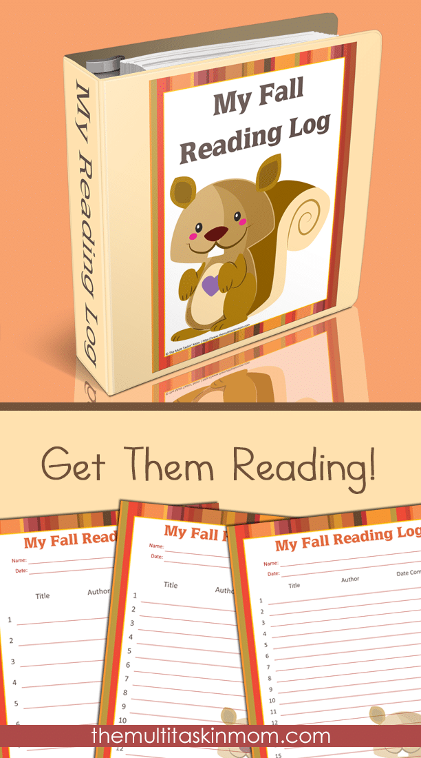 My Fall Reading Log will have your children reading this fall