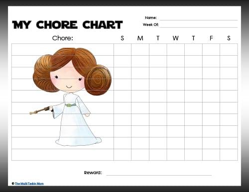 Star Wars Chore Charts
